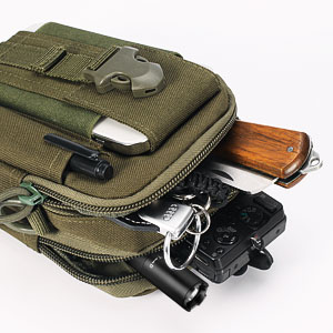 Tactical Molle Pouch Waist Belt Fanny Pack Compact Tool EDC Utility Gadget Bag for Outdoor Hiking
