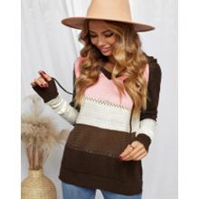 Actloe  Long Sleeve V Neck Drawstring Pullover Sweatshirts
