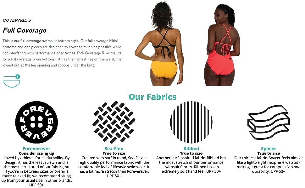 bum coverage and fabric description