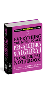 everything you need to ace pre algebra big fat notebook high school learning series study middle