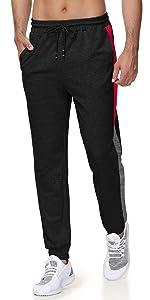 mens slim fit jogger pants with zipper pockets