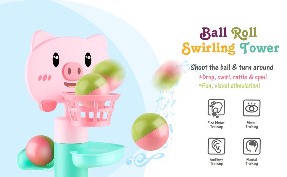 ball roll swirling tower
