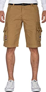 Outdoor trousers in short with side pockets