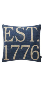 TRENDIN 1776 Decorative Throw Pillow Cover 18x18 inches