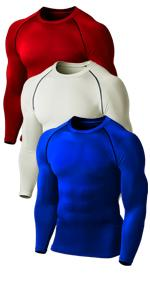 3 Pack Compre3 Pack Compression Short Sleeve Shirtsssion Round Neck Shirts
