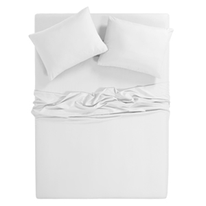 White Silver-Infused Microfiber 3-Piece Sheet Set