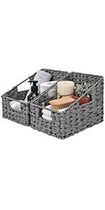 GRANNY SAYS Imitation Wicker Baskets for Storage, Set of 3