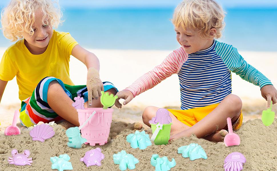 Beach Sand Toys Set 20Pcs Beach Toys for Kids