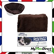 Brown Soft Cushion Plastic Dog Bed Cover