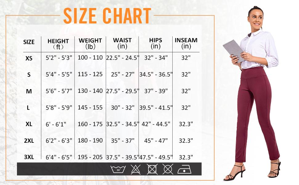 """size chart 32"""""""