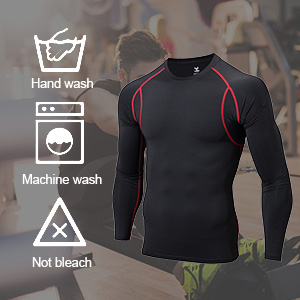 long sleeve compression shirts for men