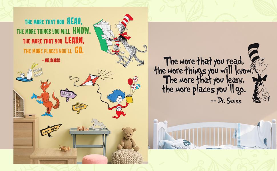 Dr Seuss DIY Wall Art Sticker for Kids