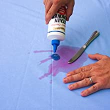 Pour a small amount of stain remover to the stained area