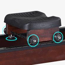 Rowing Machines for Home Use Water Resistance Wood Rower Machine with LCD Monitor Strength Training