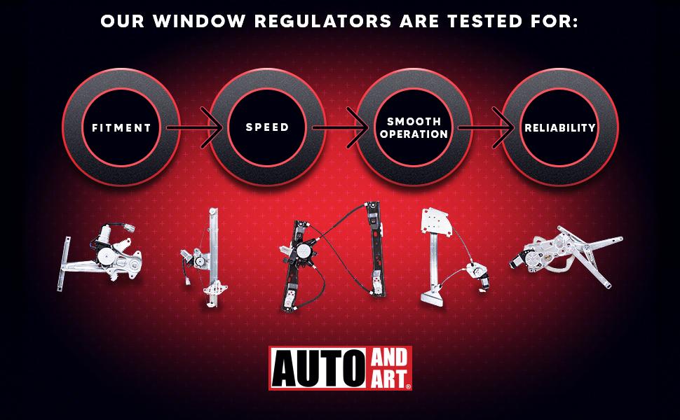 tested auto and art window regulators