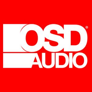 OSD Audio White Logo with Red Background