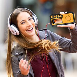weather radio with external earphone jack