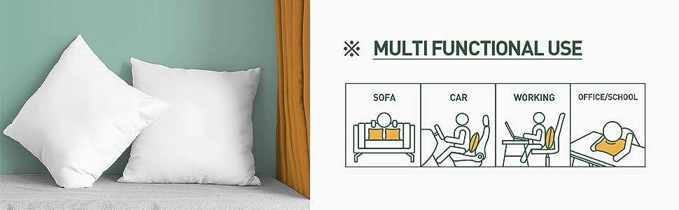 couch pillows, chair pillows, cushions, bed pillows, pillows for sleeping