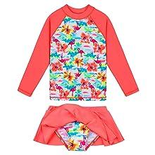 Girls Swimsuit Two Piece Long Sleeve