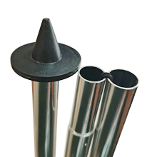 strong aluminum poles with large circle base