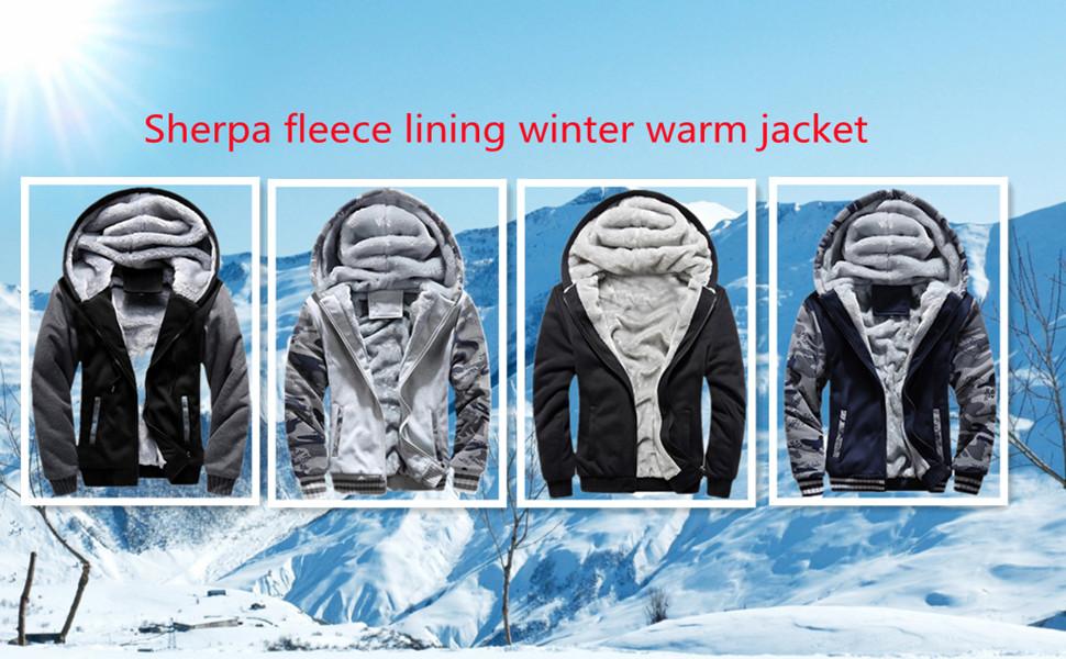 sherpa fleece lining winter warm jackets