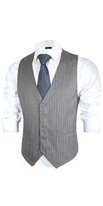Mens Striped Vest