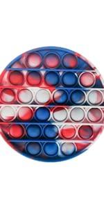pop toy circle tie dye, ma.lina.ann push pop bubble sensory fidget toy