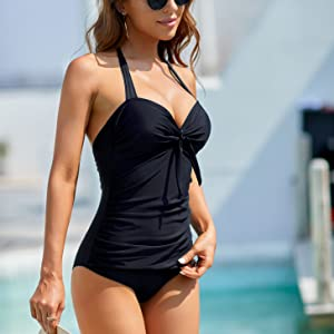 Ruched One Piece Swimsuits