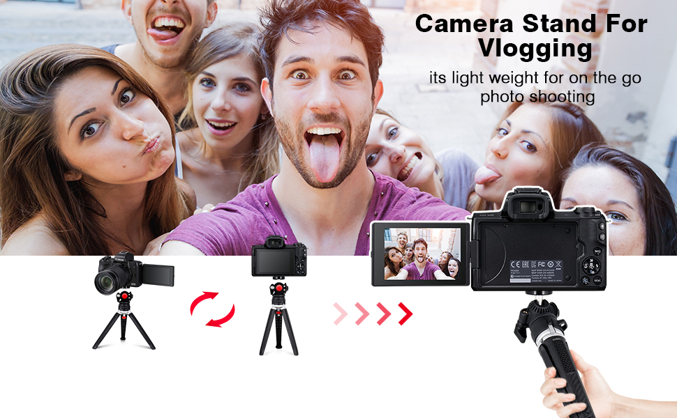 Lightweight Camera Tripod for Canon M50 Vlogging