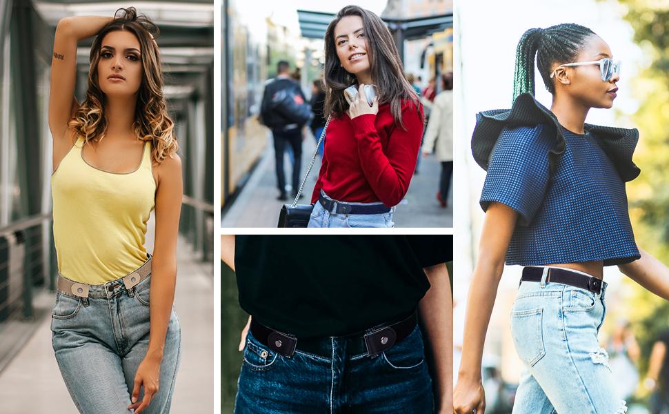 buckle free belt for women