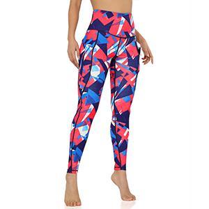 ODODOS High Waist Pattern Yoga Leggings with Pockets