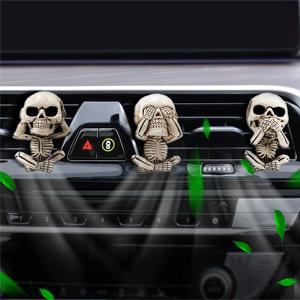 skull car air vent clip charms