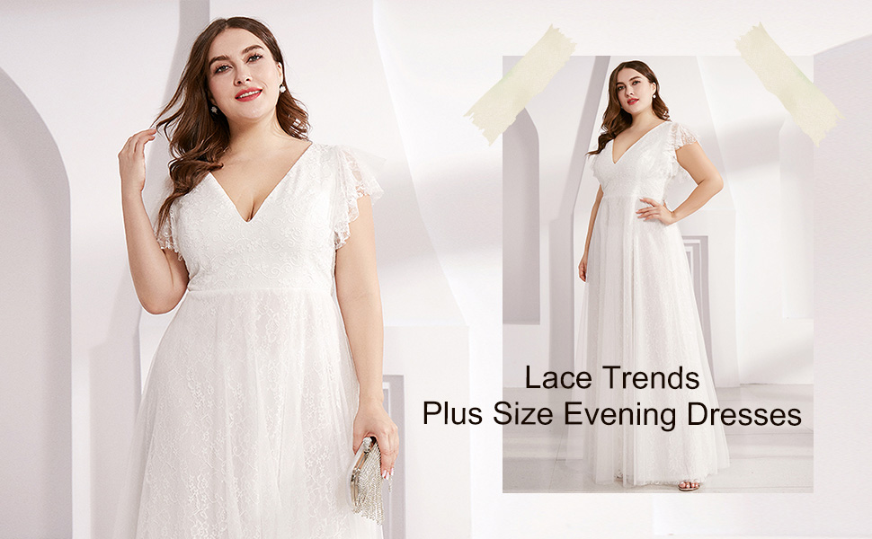 Plus size Wedding Dresses Formal Wedding Guest Dresses bridesmaid dresses long plus size lace dress