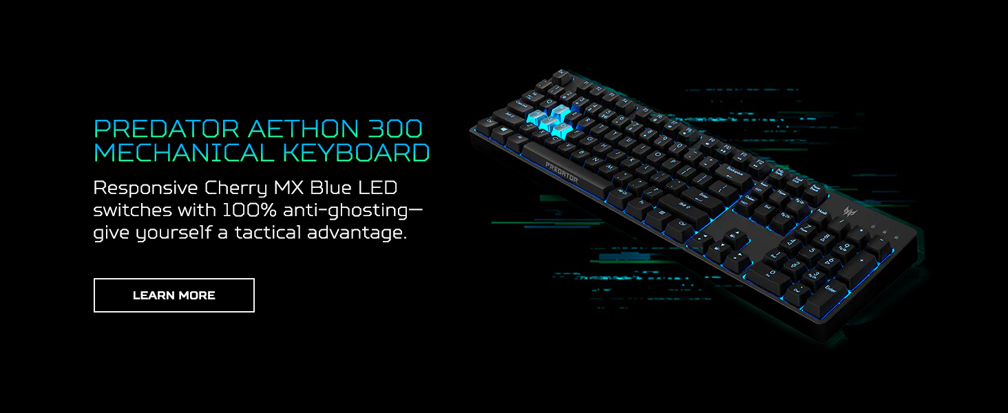 predator aethon acer mechanical keyboard led switches anti ghosting gaming color accessories