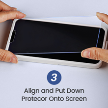 Align and Put Down Protector Onto Screen