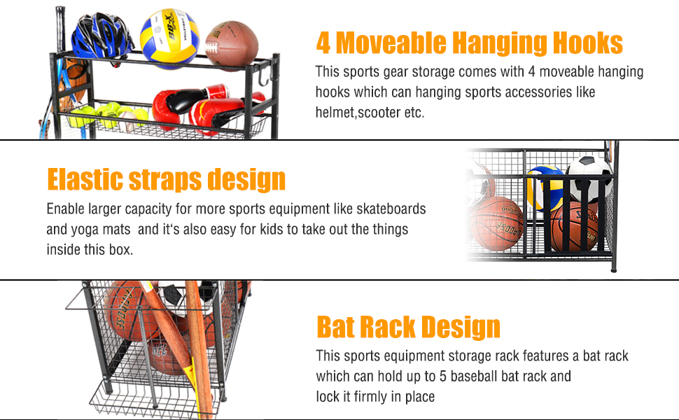 ball storage organizer