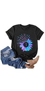 Funny Sunflower Shirts Black(S-3XL)