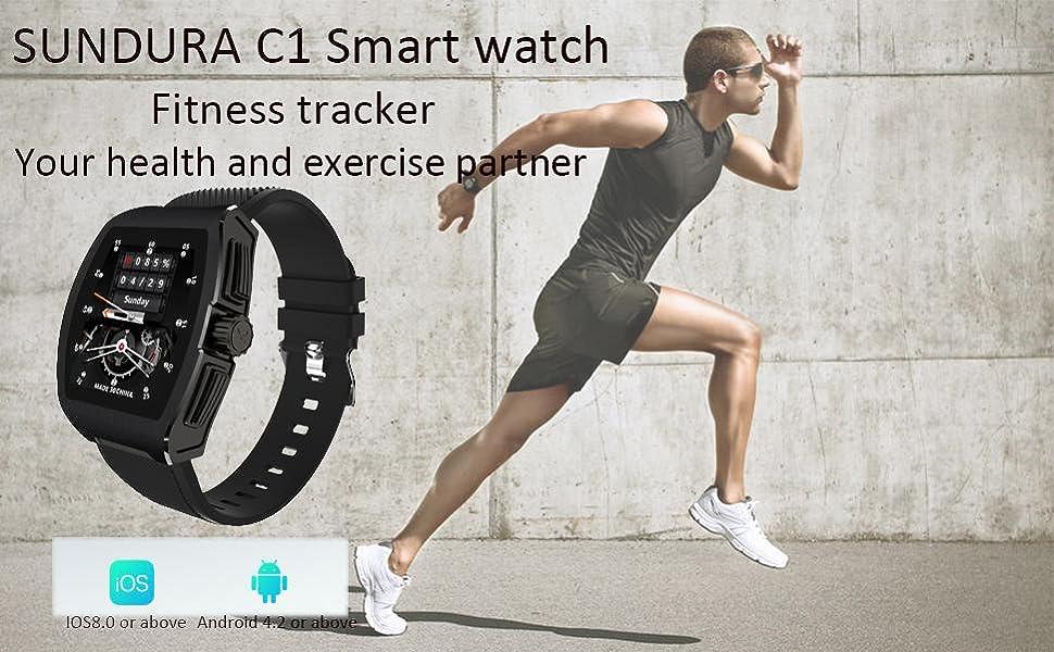 SUNDURA C1 Smart watch,Fitness tracker