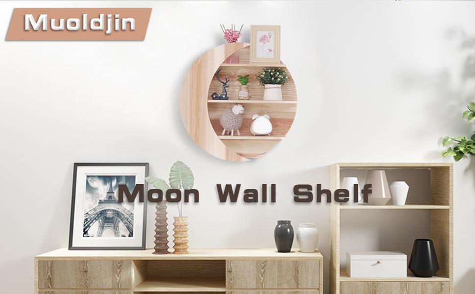 moon wall shelf