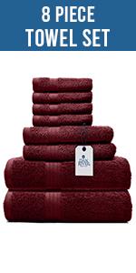 Dan River 8 Piece Towel Set