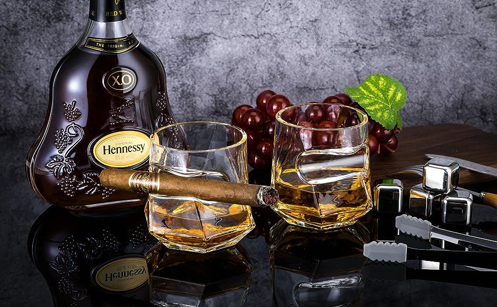 cigar whiskey glasses
