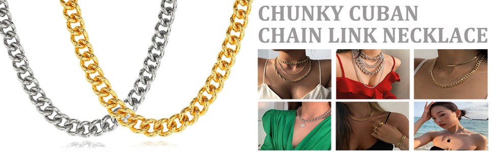 CHUNKY CUNBAN NECKLACE