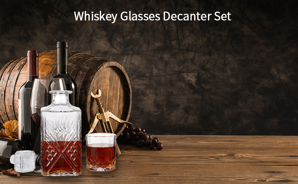 Whiskey Glasses Decanter Set