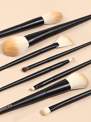8pcs makeup brushes for daily or travel use