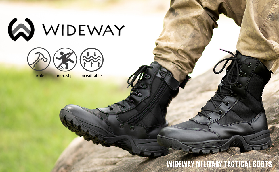 8 Men's Military Tactical Work Boots Hiking Motorcycle Combat Boots