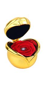 rosa fiori stabilizzata mincheda rosa eterna con anello regolabile donna confezione regalo