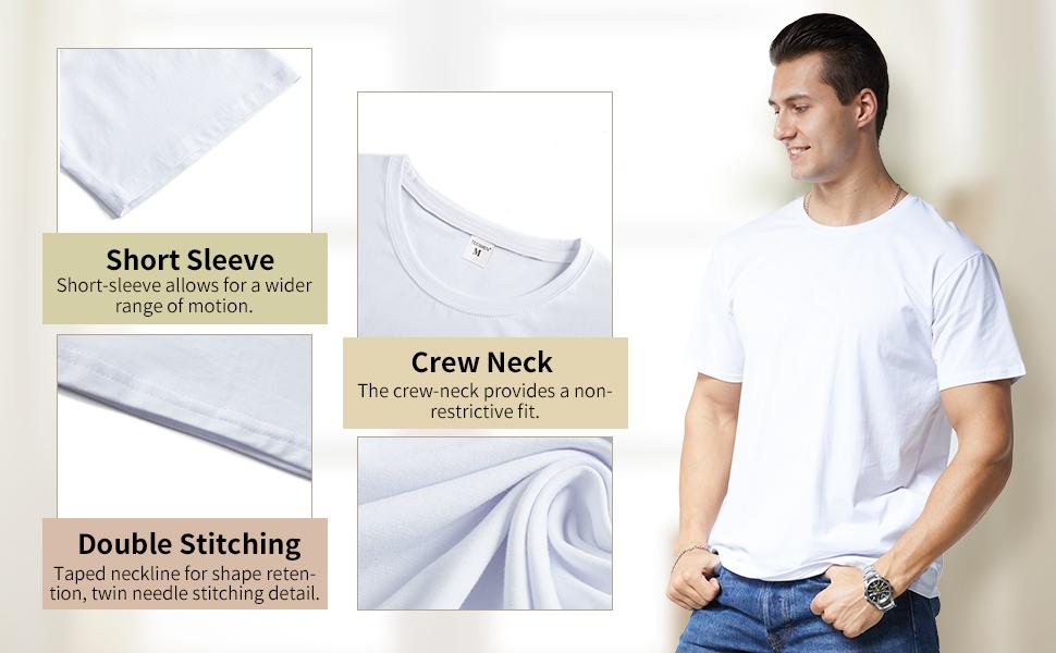 short sleeve crew neck regular fit lightweight