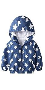 Kids Long Sleeve Zipper Windbreaker Casual Outwear
