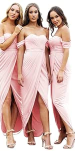 Sweetheart Cold Shoulder Bridesmaid Dresses