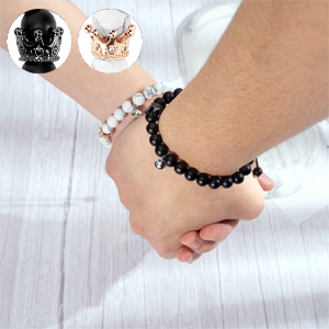King and queen magnetic bracelet